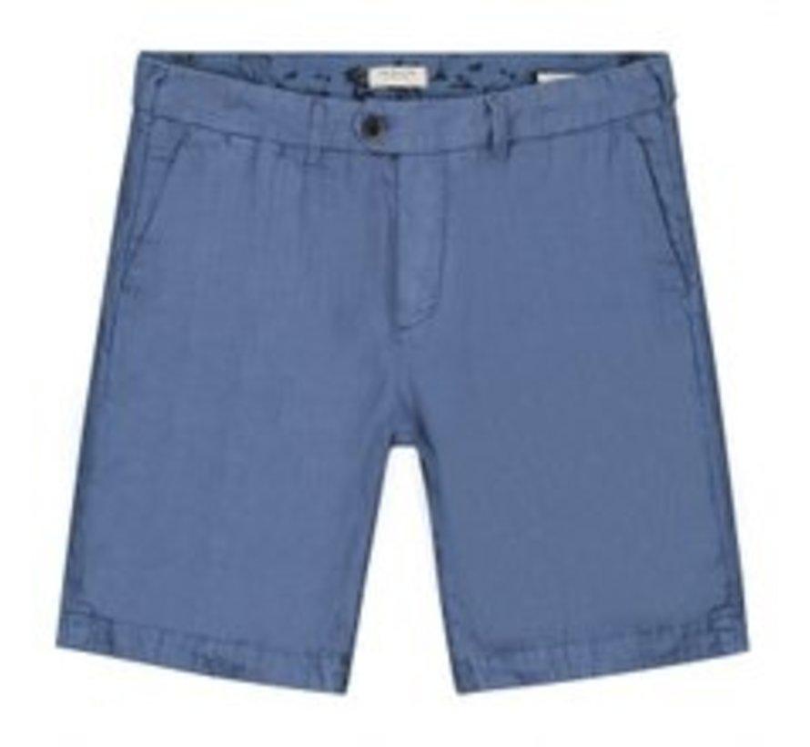 Chino Short Herringbone Linnen Horizon Blauw (515060 - 626)