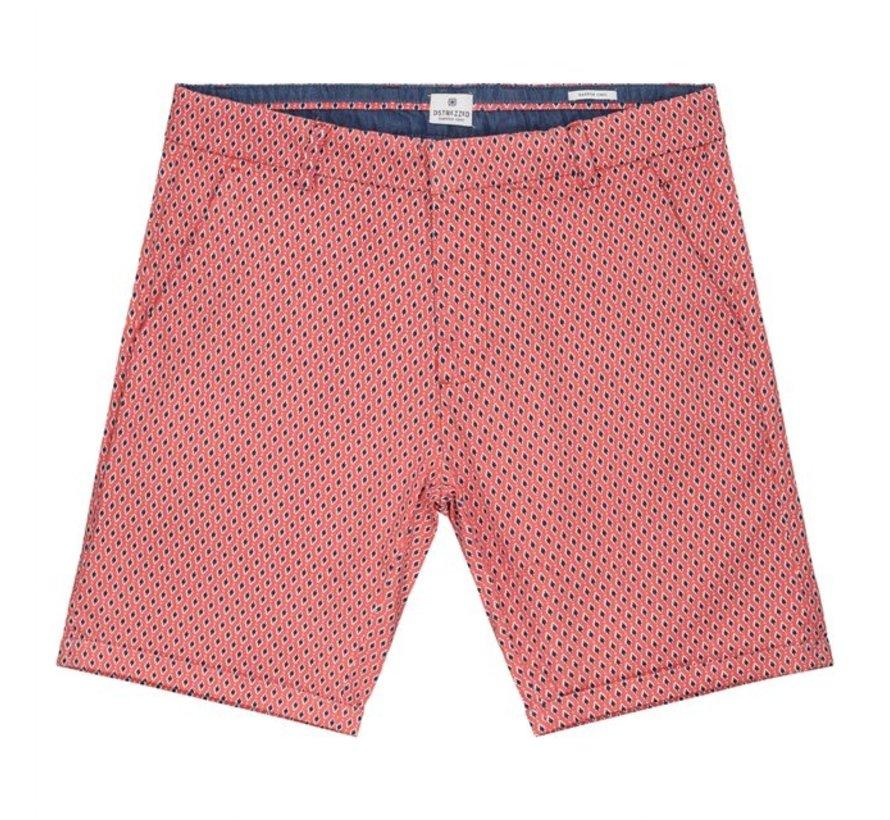 Chino Short Print Coral (515078 - 428)