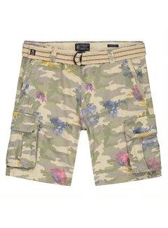 Dstrezzed Short met Riem Camouflage Army Groen (515109 - 511)