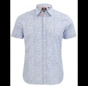 New Zealand Auckland Overhemd Korte Mouw Hapuka Blauw (20CN550S - 259)