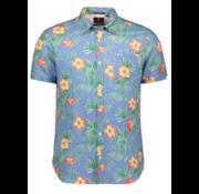 New Zealand Auckland Overhemd Korte Mouw Tahuna Blauw (20CN579S - 259)