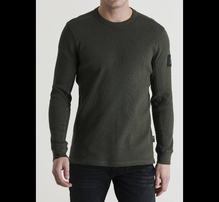 Sweater Ronde Hals Fibre Donker Groen (5111400049 - 220E)