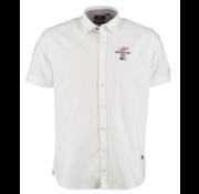 New Zealand Auckland Overhemd Korte Mouw Hawaï Wit (20CN503S - 10)