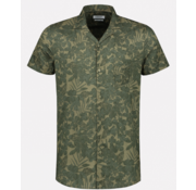 Dstrezzed Overhemd Korte Mouw Print Army Groen (311210 - 511)