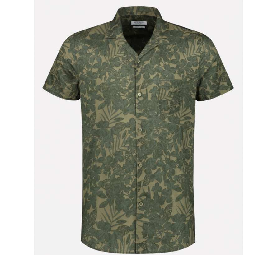 Overhemd Korte Mouw Print Army Groen (311210 - 511)