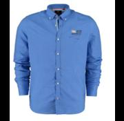 New Zealand Auckland Overhemd Linnen Blauw (20CN506 - 259)