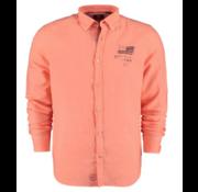 New Zealand Auckland Overhemd Linnen Oranje (20CN506 - 641)