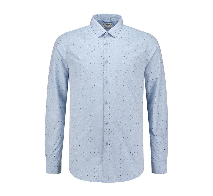 Overhemd Dot Chambray Licht Blauw (303128 - 646)