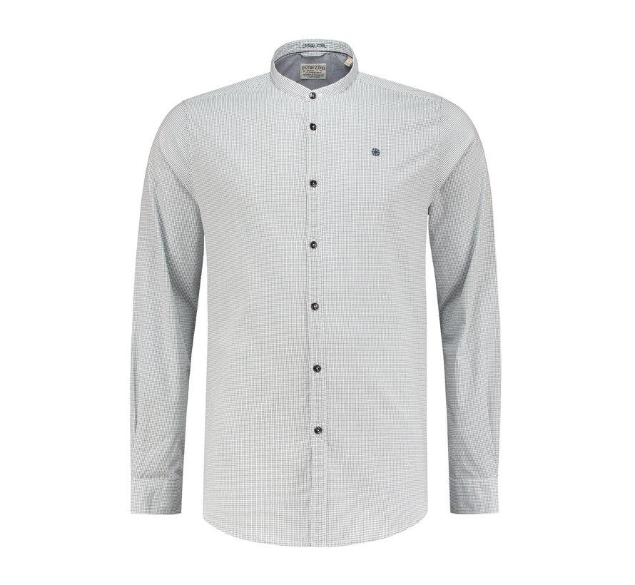 Overhemd Chambray Wit/Navy Blauw (303150 - 101)