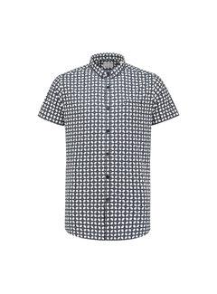 Dstrezzed Overhemd Korte Mouw Geometric Navy Blauw (311115 - 649)