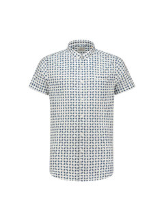 Dstrezzed Overhemd Korte Mouw Geometric Royal Blauw (311115 - 660)