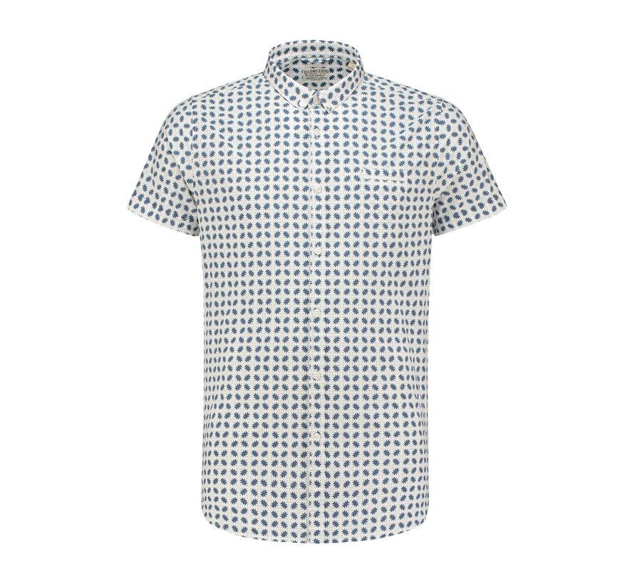 Overhemd Korte Mouw Geometric Royal Blauw (311115 - 660)