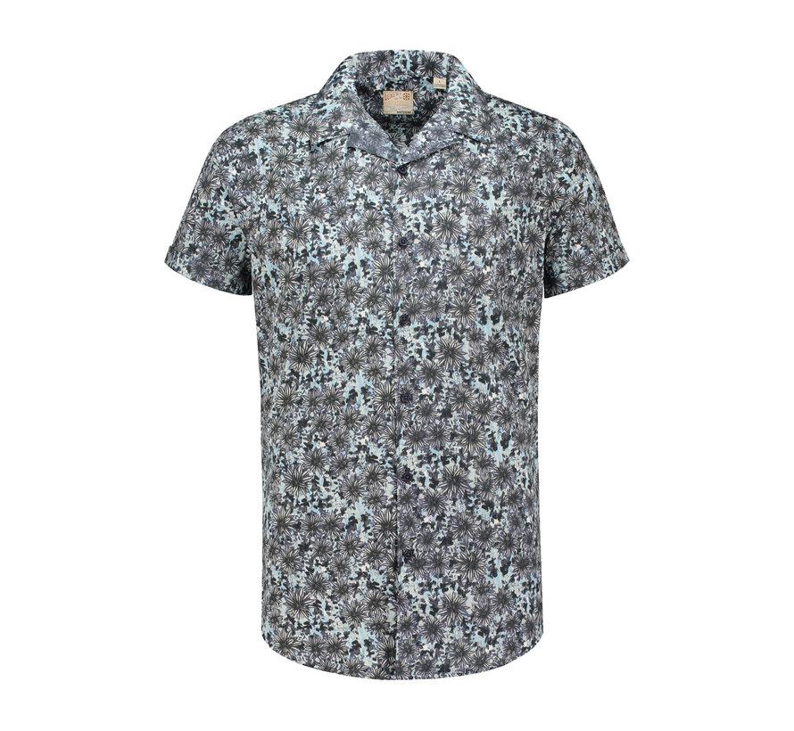 Overhemd Korte Mouw Cactus Blauw (311116 - 665)