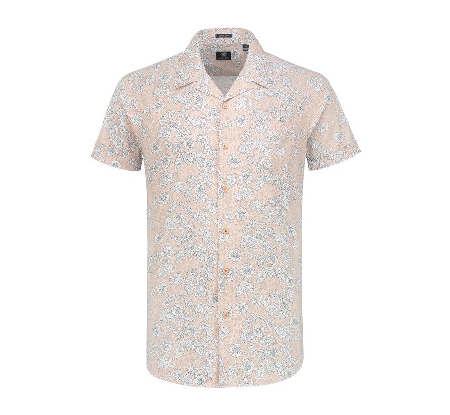 Overhemd Korte Mouw Structure Licht Roze (311134 - 429)