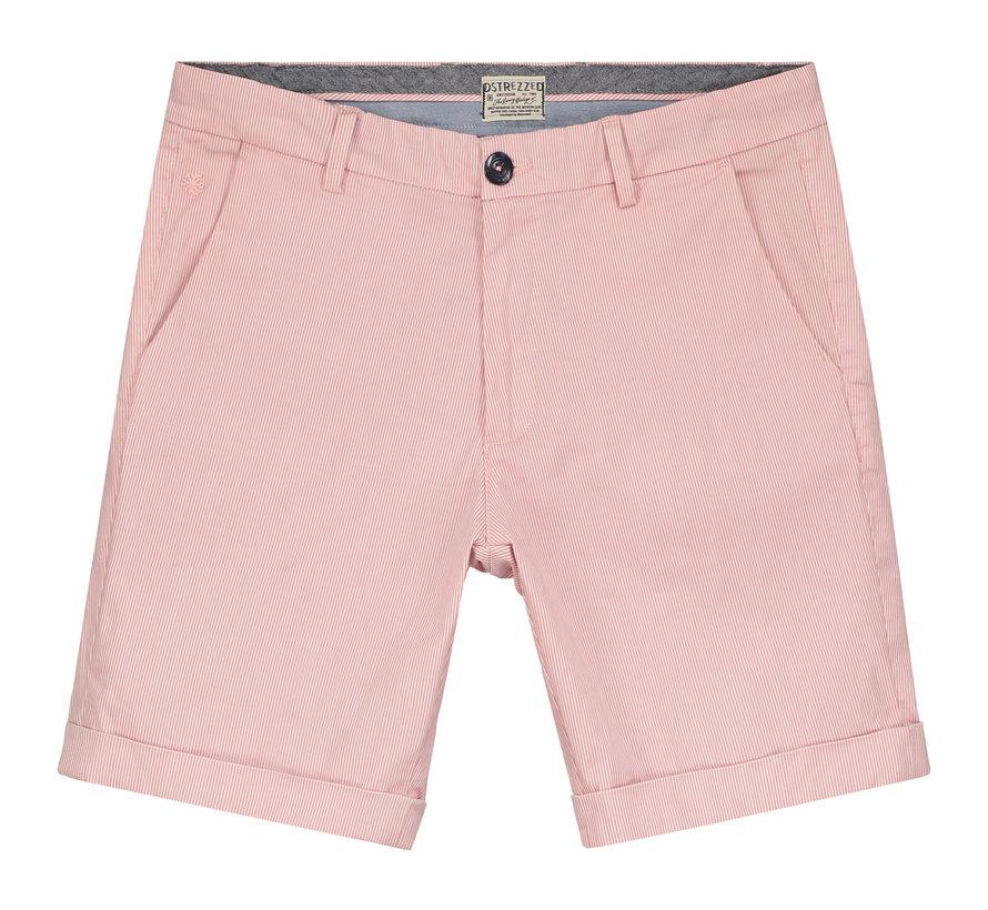 Chino Short Slim Fit Gestreept Roze (515066 - 427)