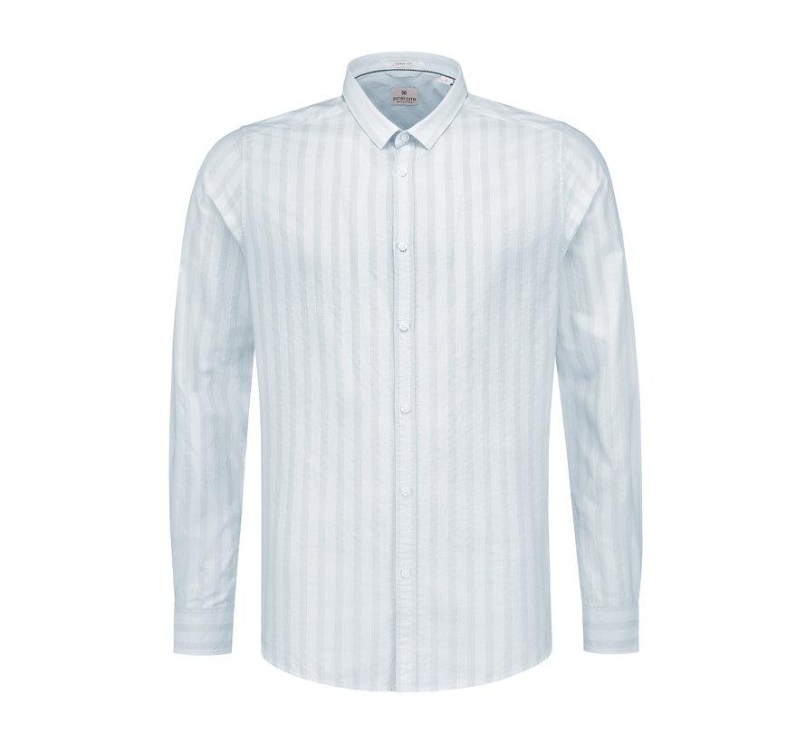 Overhemd Fancy Stripe Licht Blauw (303202 - 646)