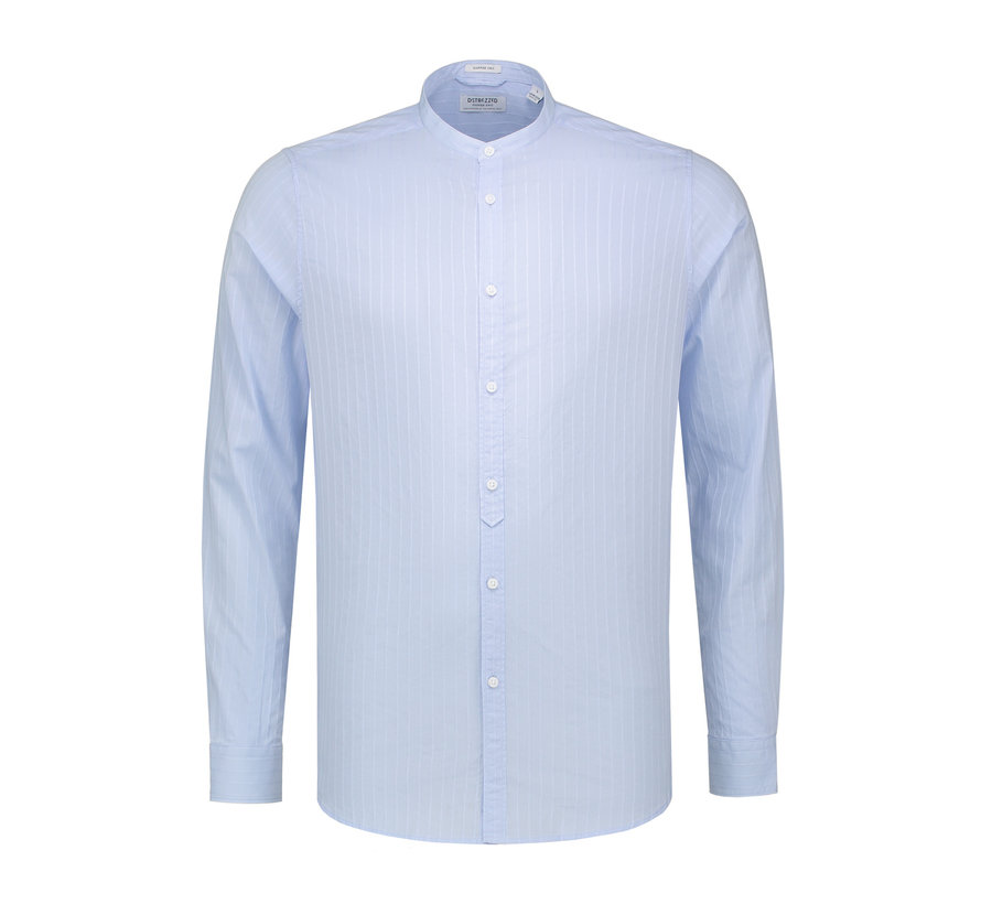 Overhemd Jaquard Stripe Licht Blauw (303204 - 646)