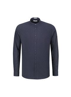 Dstrezzed Overhemd Jaquard Dark Navy Blauw (303204 - 649)