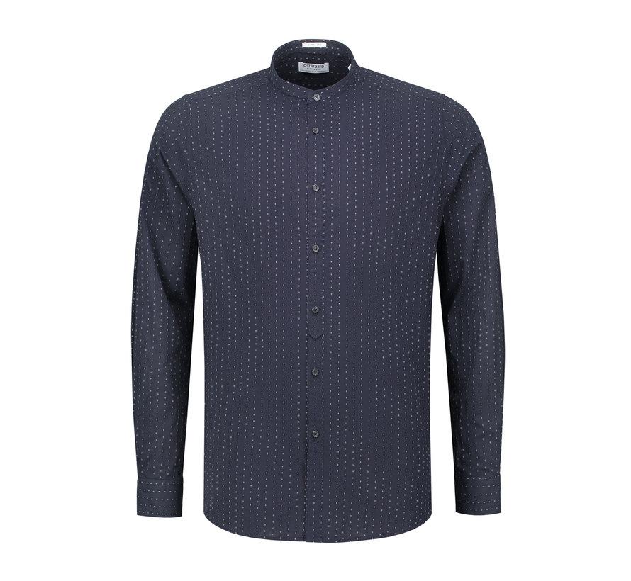 Overhemd Jaquard Dark Navy Blauw (303204 - 649)