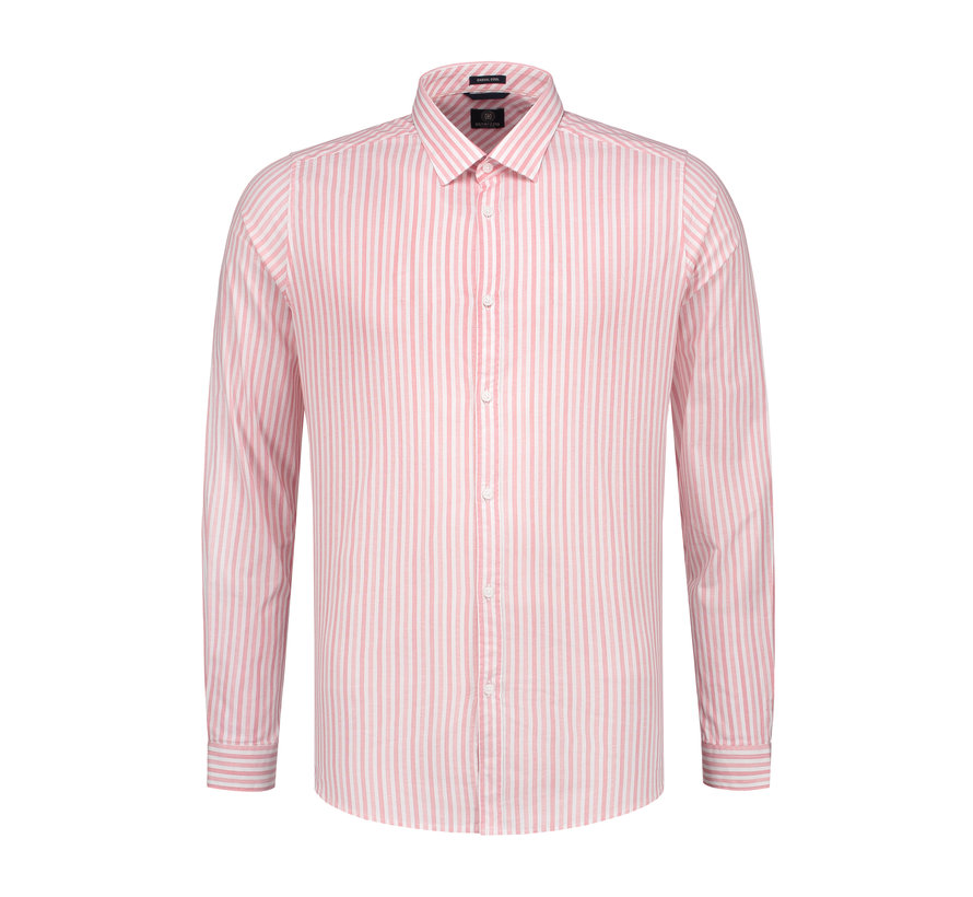 Overhemd Fineline Stripe Coral (303212 - 428)