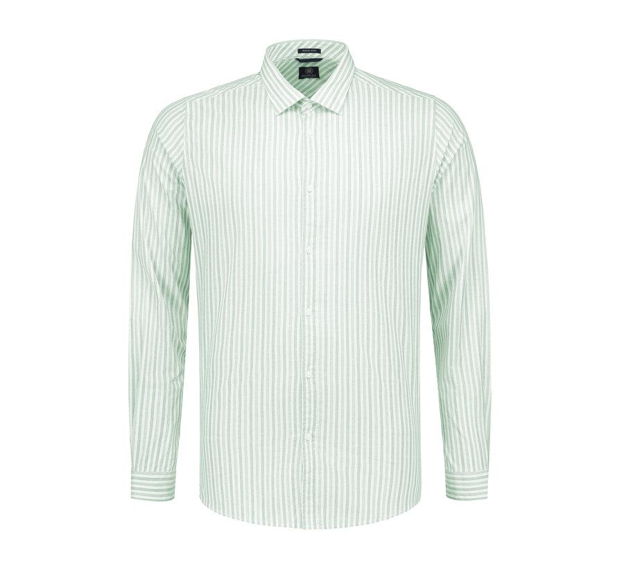 Overhemd Fineline Stripe Lagoon Groen (303212 - 521)