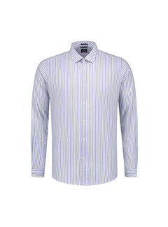 Dstrezzed Overhemd Fineline Stripe Horizon Blauw (303212 - 626)