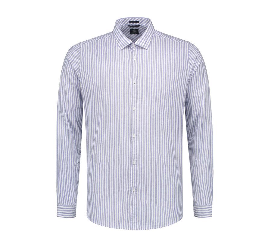 Overhemd Fineline Stripe Horizon Blauw (303212 - 626)