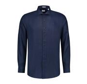 Dstrezzed Overhemd Linnen Navy Blauw (303224 - 669)