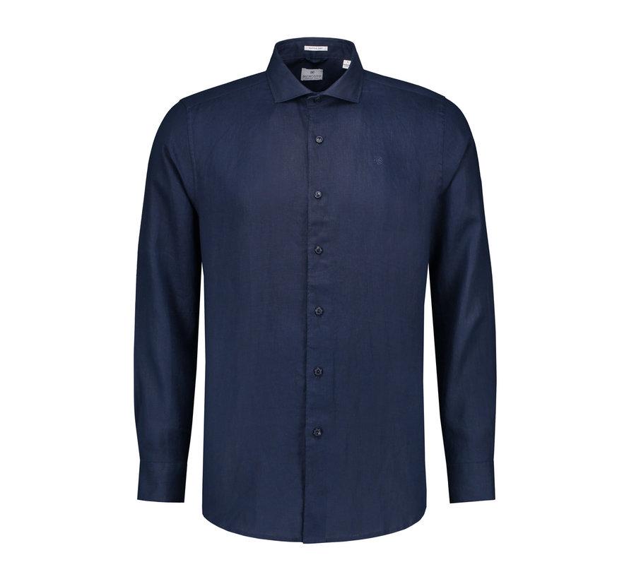 Overhemd Linnen Navy Blauw (303224 - 669)