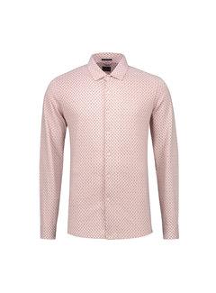 Dstrezzed Overhemd Printed Melange Jersey Licht Roze (303228 - 429)