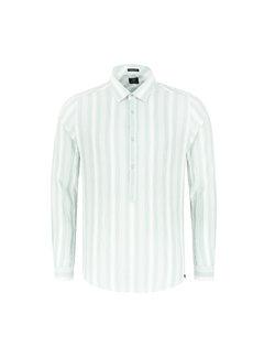 Dstrezzed Overhemd Crinkle Stripe Lagoon Groen (303240 - 521)