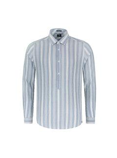 Dstrezzed Overhemd Crinkle Stripe Horizon Blauw (303240 - 626)
