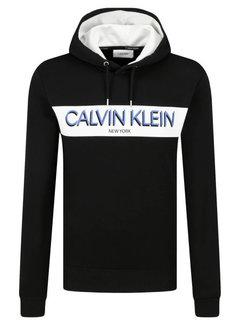 Calvin Klein Hooded Sweater Met Logo Zwart (K10K105151 - BDS)