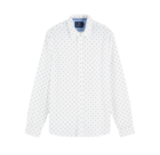 Overhemd Regular Fit Print Wit (155169 - 0217)