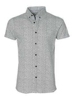 Dstrezzed Overhemd Korte Mouwen Stippen Wit (311124 - 100)