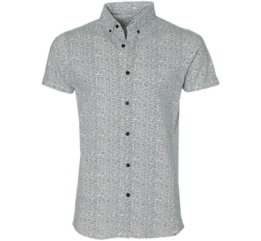 Overhemd Korte Mouwen Stippen Wit (311124 - 100)