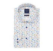 Profuomo Overhemd Poplin Print Slim Fit Multicolor (PPRH1A1097)N