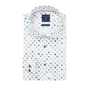 Profuomo Overhemd White Dot Print Slim Fit Multicolor (PPRH1A1096)N