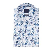 Profuomo Overhemd Navy Floral Print Slim Fit Blauw (PPRH1A1094)N