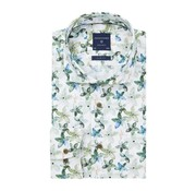 Profuomo Overhemd Green Floral Print Slim Fit Groen (PPRH1A1095)N