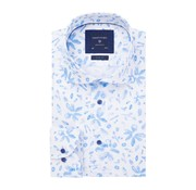 Profuomo Overhemd White Floral Print Slim Fit Wit (PPRH1A1056)N