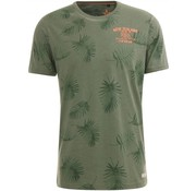 New Zealand Auckland T-Shirt Hawkins Groen print (19DN704 - 453)
