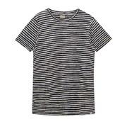 Dstrezzed T-shirt Linnen Streep Navy (251001D - 645)
