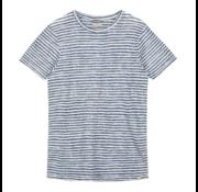 Dstrezzed T-shirt Linnen Streep Wit (251001D - 101)