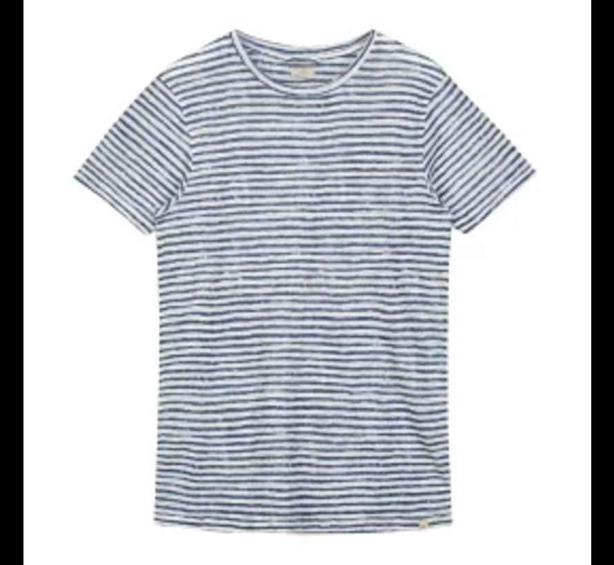 T-shirt Linnen Streep Wit (251001D - 101)
