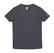 Dstrezzed T-shirt Streep Navy (451001D - 635)