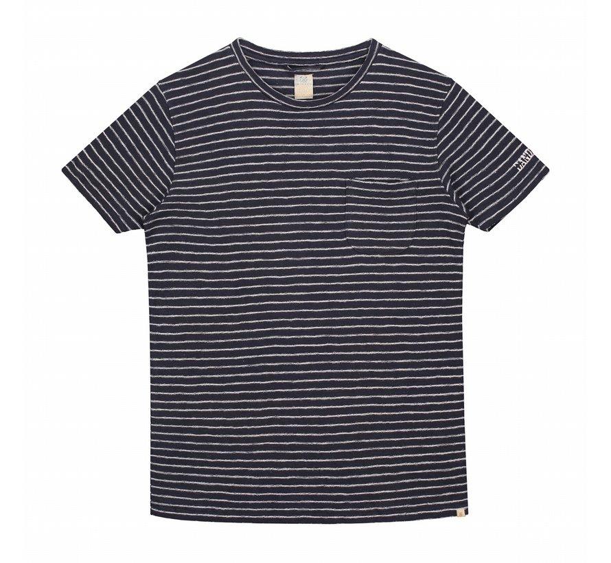 T-shirt Streep Navy (451001D - 635)