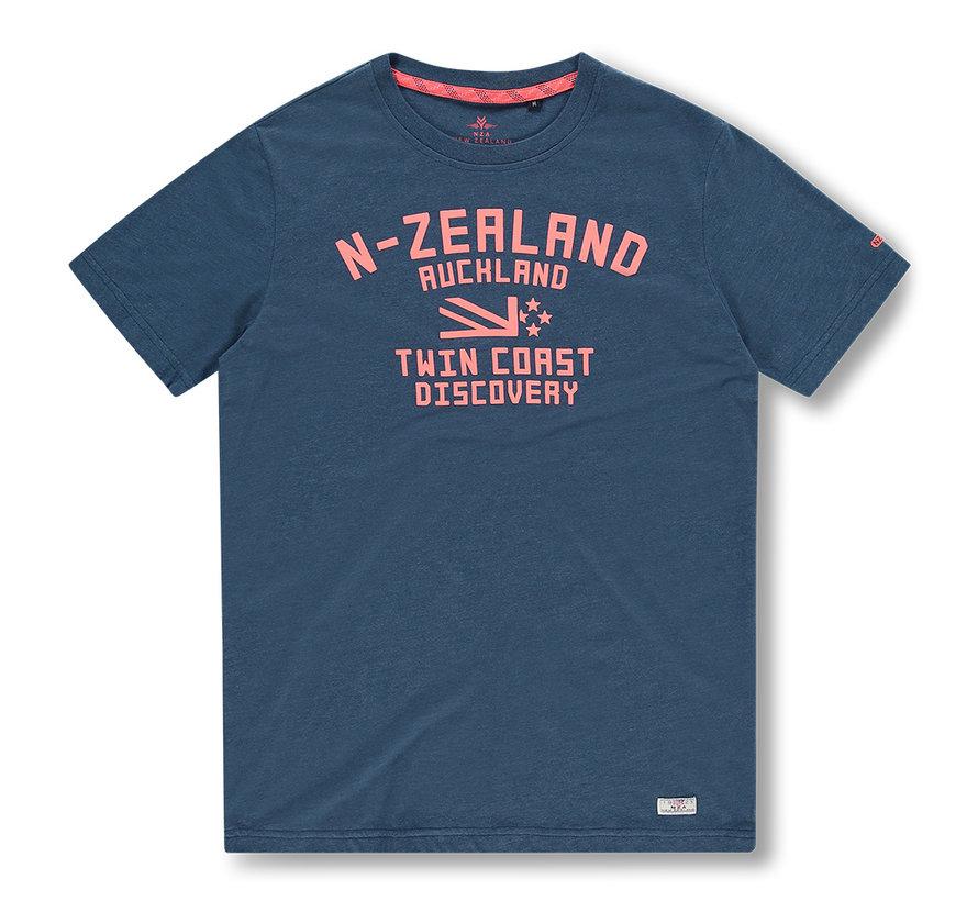 T-shirt Tauranga Blauw (20DN705 - 255)