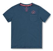 New Zealand Auckland V-hals T-shirt Tangarakau Blauw (20DN710 - 255)