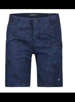 Haze&Finn Korte Broek Navy Blauw Print (MU13 - 0518 - Navy-Jungle AOP)